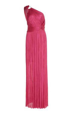 Maria Lucia Hohan Kris Metallic Tulle One Shoulder Gown