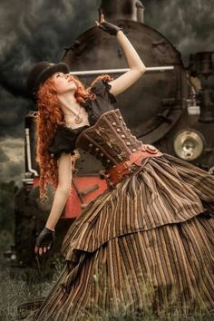 Steampunk and Dieselpunk fashion and things Steampunk Couture, Chat Steampunk, Viktorianischer Steampunk, Steampunk Dress, Steampunk Cosplay, Steampunk Clothing, Steampunk Fashion, Victorian Fashion, Steampunk Outfits