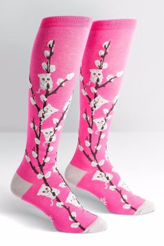 We've had the best scientists in the field working on this for months, and they are finally complete: Kitty Willows! Not content with the mere mockery of furry paws, the Sock It to Me scientists were tasked with creating the cutest combination of plant and animal yet. Approximately fits women's shoe 5-10.   Kitty Willows Socks by Sock it to me. Accessories - Socks Mississippi