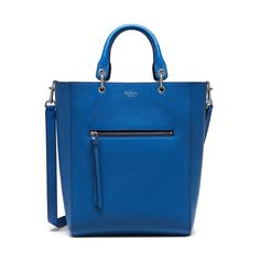 """Small Maple   Porcelain Blue Small Classic Grain   Women   Mulberry Height 13"""" Width 12¼"""" Depth 4"""" Handle drop 5"""" Shoulder strap drop 12½ Things To Buy, Stuff To Buy, Cow Leather, Leather Totes, Small Leather Goods, Beautiful Bags, Hermes Kelly, My Bags, Shoulder Strap"""