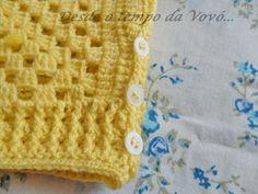 Baby vest with Granny Square  Desde o tempo da vovó...: Colete em crochê para Bebê com Granny Square