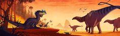 """Random prehistoric creatures by Johan Egerkrans. From his books """"Första urtidsboken"""" (First Times), """"Alla Tiders Dinosaurier""""..."""