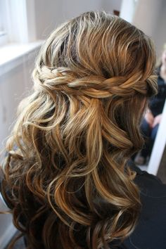 Braided Half up, Half down by Marie Nelson