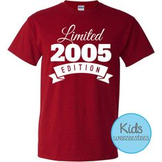 Items Similar To 11 Year Old Birthday Shirt 2005 Kids Limited Edition 11th Youth Celebration WeeZeesTees WT 170 On