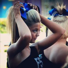 cheer hair perfection!