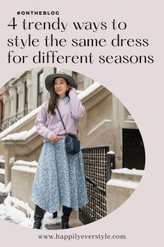 Winter to spring | Dress outfit ideas | #fashionblog #ontheblog | Casual outfit ideas | puffer jacket | wool coat | camel coat | Beret | French inspired outfit idea | Casual chic style | Parisian style | Knee high boots outfit | Styling tips | #dress How to style a spring dress