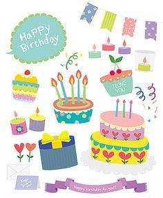 Birthday Clipart, Cartoon Boy, Happy Birthday Greetings, Party Time, Banner, Doodles, Birthday Cake, Clip Art, Scrapbook