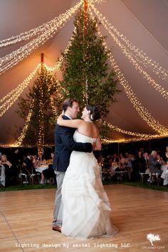 Twinkle light ribbons by Seitel Lighting LLC Wedding Tent Lighting, Tent Wedding, Wedding Dresses, Twinkle Lights, Twinkle Twinkle, Lighting Design, Ribbons, Flower Girl Dresses, Table Decorations