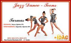 Novas turmas de Jazz Dance! Venha Dançar com a Gente