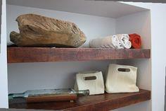 Afbeeldingsresultaat voor badkamer wit en hout