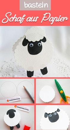 Machen Sie mit Kindern Schafe aus Papier - Paște, ouă, pui etc. Eid Crafts, Ramadan Crafts, Bible Crafts For Kids, Diy For Kids, Decoraciones Eid, Lamb Craft, Shape Games, Cool Paper Crafts, Diy Paper