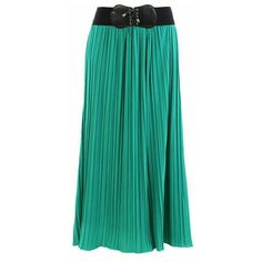 Jupe de Abby Emerald Pleated Maxi Skirt ($39) ❤ liked on Polyvore featuring skirts, bottoms, green, pleated skirt, green pleated skirt, maxi skirt, green maxi skirt and long skirts