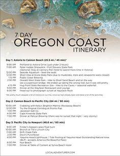 Oregon Coast Itinerary { click through to download the full printable pdf } // localadventurer.com