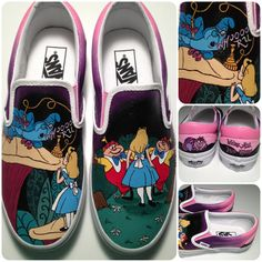 Hey, I found this really awesome Etsy listing at https://www.etsy.com/listing/159595608/alice-in-wonderland-shoes