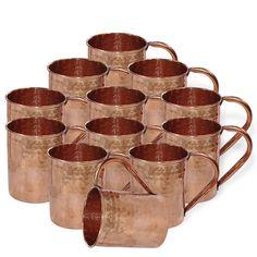 DakshCraft ® Drinkware Accessories Hammered Copper Moscow Mule Mug,Set of 12 (Capacity 15.21 oz per mug): Amazon.com: Home & Garden