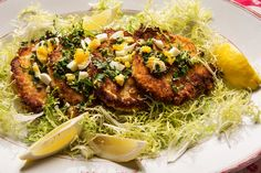 Pork cutlets with lemon and capers (Photo: Fred R. Conrad/The New York Times)