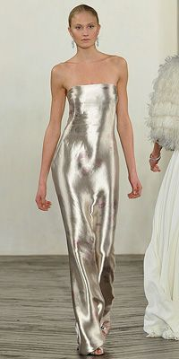 Please someone walk down the isle in this liquid silver dress!  #wedding #bling #idea