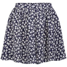 Neon Rose Women's Floral Print Skirt (€14) ❤ liked on Polyvore featuring skirts, bottoms, saias, faldas, blue, blue floral skirt, pleated circle skirt, blue pleated skirt, floral print skirt e floral circle skirt