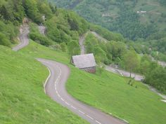 The twisty roads in the French Pyrenees - perfect for cycling!