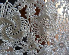 paire de rideaux dentelle crochet faits main vintage / french old hand made hook curtains - Modifier la fiche - Etsy