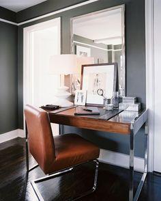 Office space - fantastic desk + love the tubular steel.