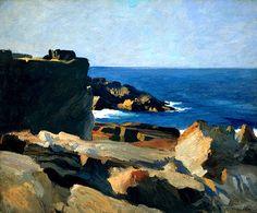 bofransson:  Square Rock, Ogunquit, 1914 Edward Hopper