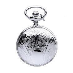 Woodford sterling silver full hunter quartz pendant necklace watch mount royal full hunter silver plated pendant necklace watch pendant watches from pocket watch uk aloadofball Gallery