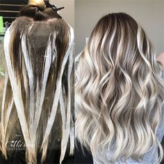 20+ Trendy Hair Highlights Balayage application & finished +Tips – Page 5 – Chic Cuties Blog Ice Blonde Hair, Blonde Hair Shades, Blonde Hair With Highlights, Hair Color Balayage, Blonde Balayage, Blonde Dye, Color Highlights, Balayage Highlights, Hair Color For Women