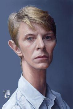 Caricatura de David Bowie.
