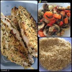 Couscous with grilled veggie and chicken breast :) great combination, yummy, healthy and nutritious!