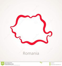 Photo about Outline map of Romania marked with red line. Illustration of silhouette, romanian, contour - 104004755 Romania Map, Outline, Contour, Silhouette, Culture, Illustration, Red, Contouring, Illustrations