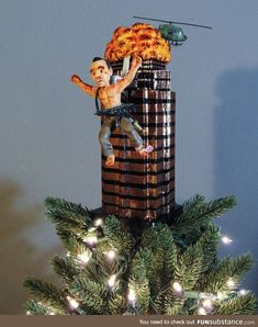 Best Christmas Tree Topper I have seen. [Top post on /r/Funny] : Best Christmas Tree Toppers, Xmas Tree Toppers, Cool Christmas Trees, Christmas Movies, Christmas Tree Decorations, Christmas Ornaments, Holiday Decor, Funny Tree Topper, Christmas Sled