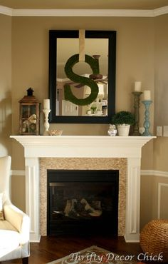 "I happen to think putting an ""E"" over the mirror on our mantel could be quite cool... Bringing the family name together in our sitting room :)"