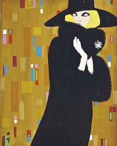 By René Gruau (1909-2004), 1970's, International Textiles.