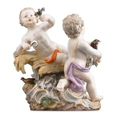 Meissen Porcelain Summer and Fall Figural Group Late 19th- Early 20th Century