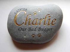 Pet memorial stone engraved and personalised by StoodleyJWorkshop, £47.00