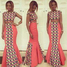ankara+skirt+and+blouse.jpg (640×640)