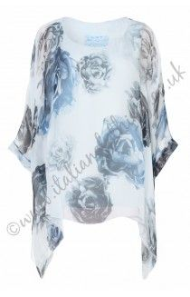 Made in Italy new arrivals. Made in Italy, tops, tunics, dresses & linen twin sets. Free UK delivery on all Made in Italy Italian Clothing. Italian Clothing, Italian Outfits, Linen Dresses, Silk Top, 21st Century, Floral Prints, Cover Up, Sky, Fashion Outfits