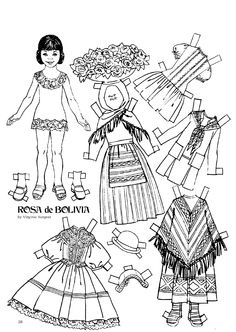 The Friend magazine Paper Doll_Bolivia