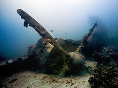 Wreck diving in the Truk Lagoon (known as Chuuk), central Pacific