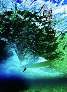 Underwater... single fin...