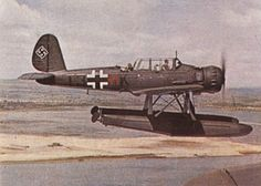 Arado Ar 196 used by Kreigsmarine German Navy. Amphibious Aircraft, Ww2 Aircraft, Fighter Aircraft, Military Aircraft, Fighter Jets, Luftwaffe, Plane Photography, Naval History, Flying Boat