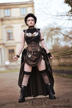 Lilith Vanderstorme, Captain of the Storme Witness. #steampunk