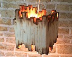 Handmade Wooden Lantern Table Lamp Decorative by Uniquelightingco