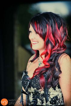 fun  way to incorporate the red it you do a black/ silver dress
