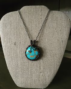 A personal favorite from my Etsy shop https://www.etsy.com/listing/266797850/wrapped-turquoise-pendant
