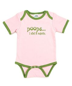 Take a look at this Pink 'I Did It Again' Bodysuit - Infant by Urban Smalls on #zulily today!