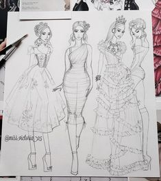 Image may contain: 3 people, drawing Beauty Illustration, Fashion Illustration Sketches, Fashion Sketchbook, Fashion Sketches, Illustrations, Fashion Design Books, Fashion Design Portfolio, Fashion Design Drawings, Dress Design Sketches
