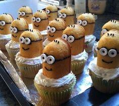 Minion Twinkie Cupcakes!! <3