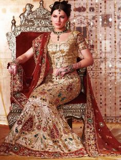 Soma Sengupta Indian Wedding Dress- Sparkling Cream!